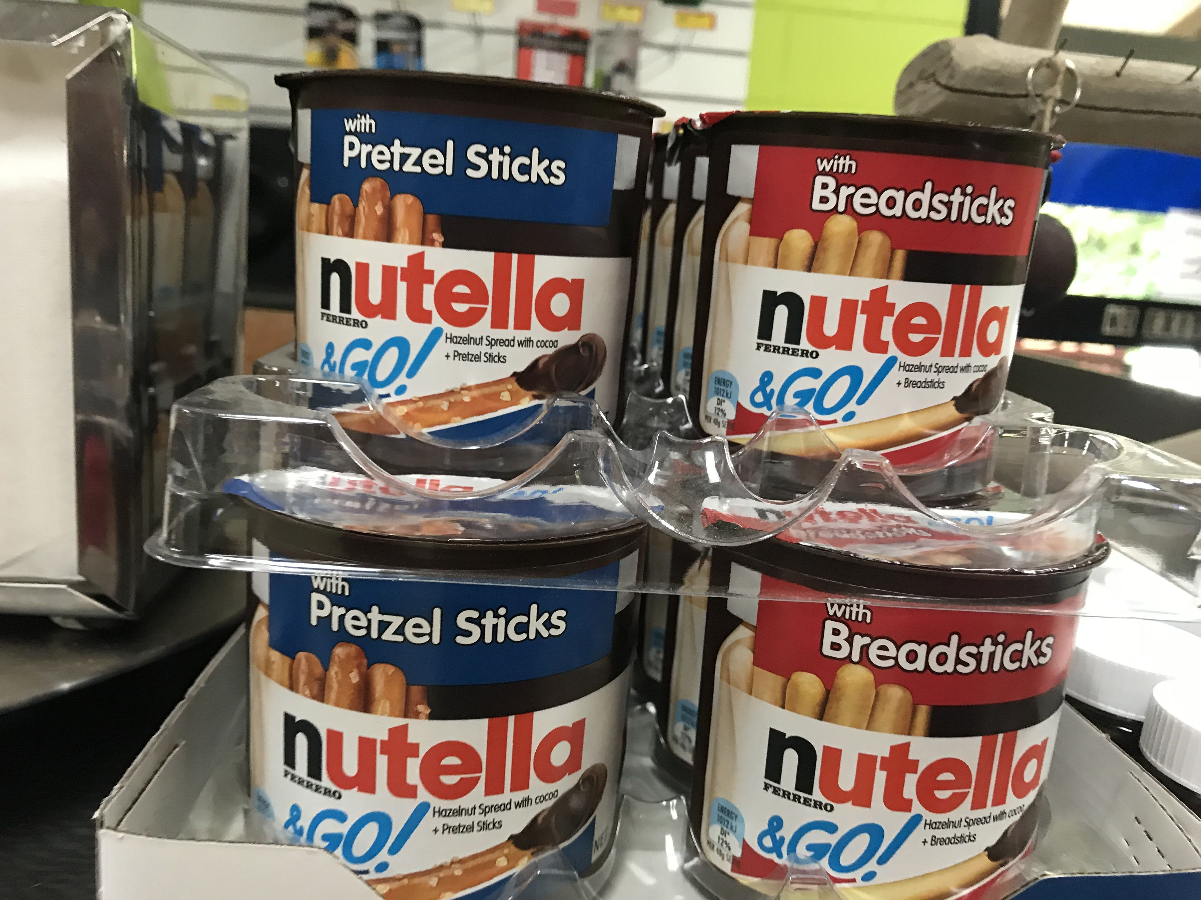 Brand extension nutella go with pretzel sticks