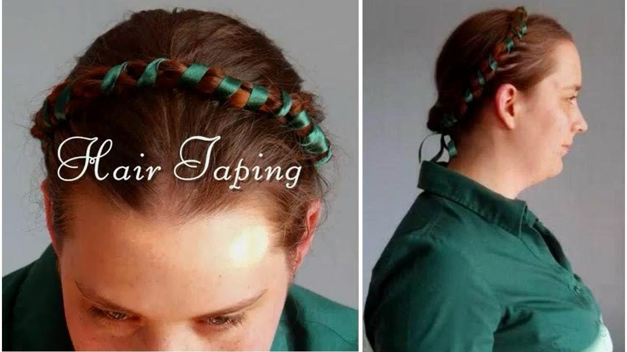 tutorial - hair taping - medieval, tudor, elizabethan