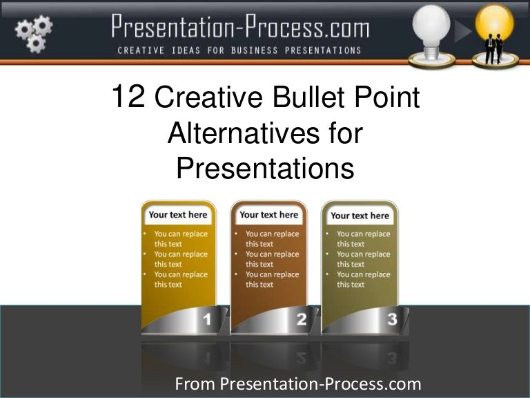 12 Creative Bullet Point Alternatives for Presentations by - presentation skills ppt