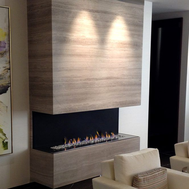 H Series By European Home Modern 3 Sided Fireplace Vent Free Contemporary Gas Fireplace Gas Fireplace Fireplace