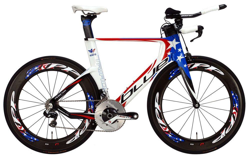 Limited Edition Blue Triad Slr Rwb Red White Blue Triathlon Bike