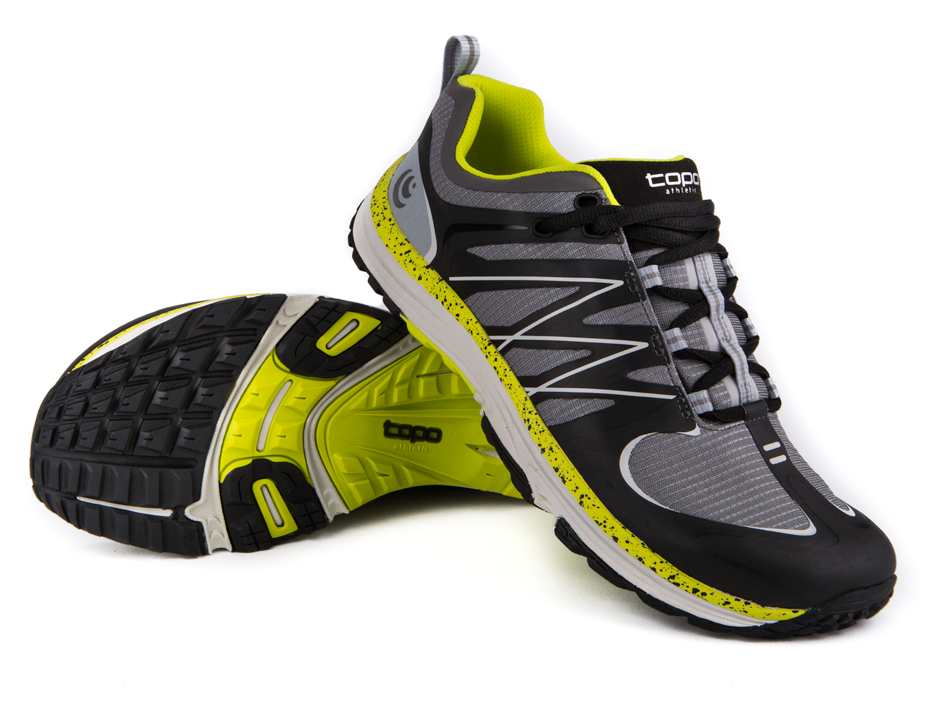 Topo Athletic Men's MT Grey/Green // The ultimate hybrid running shoe for trail and road.