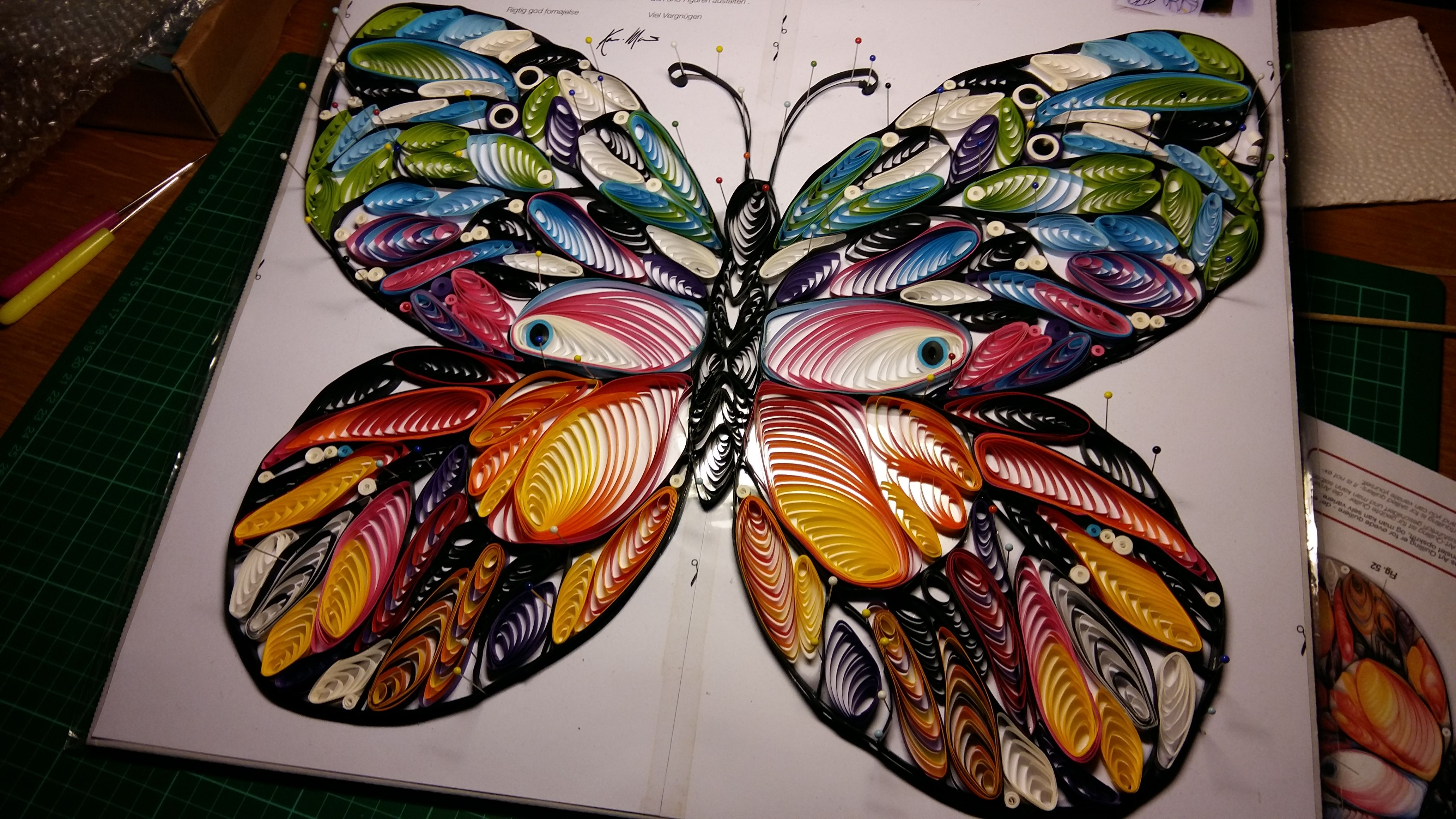 Best Quilling Butterfly Template Bought From Karen Marei Klip U Papir With  Quilling Butterfly Template