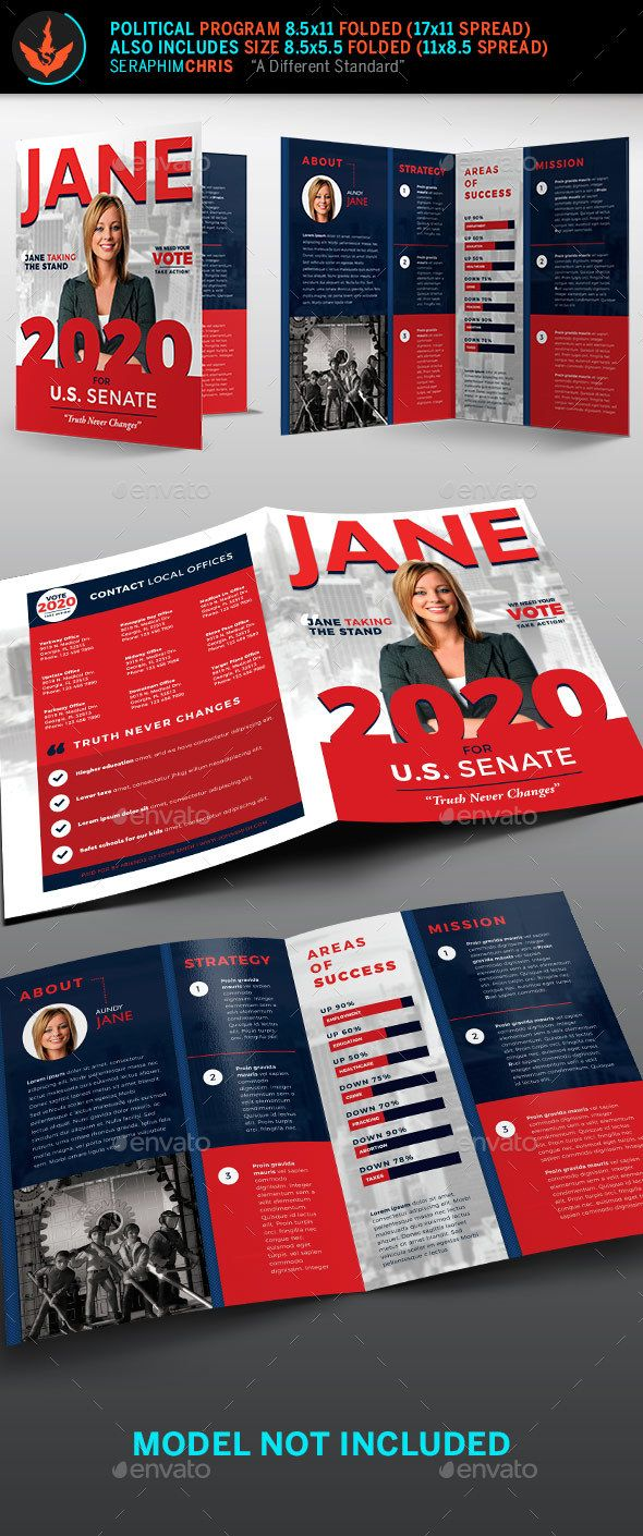 Jane Political Brochure Template 1 - Corporate Brochures | Political ...