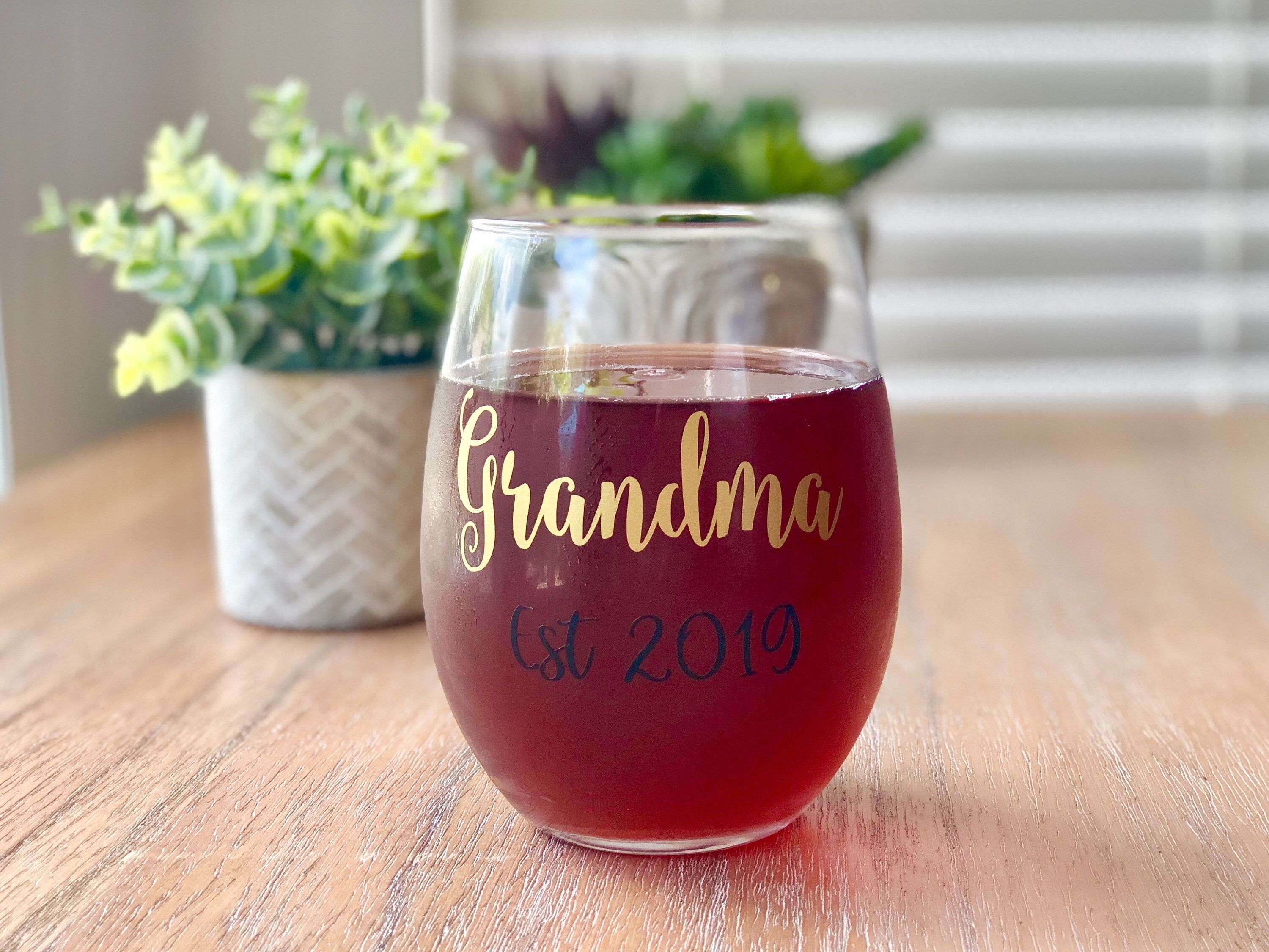 Thanks For The Kind Words Beautiful Love The Custom Color Highly Recommend Cmitch321 Etsy Ba Grandma Wine Glass Wine Gifts Personalized Wine Glass