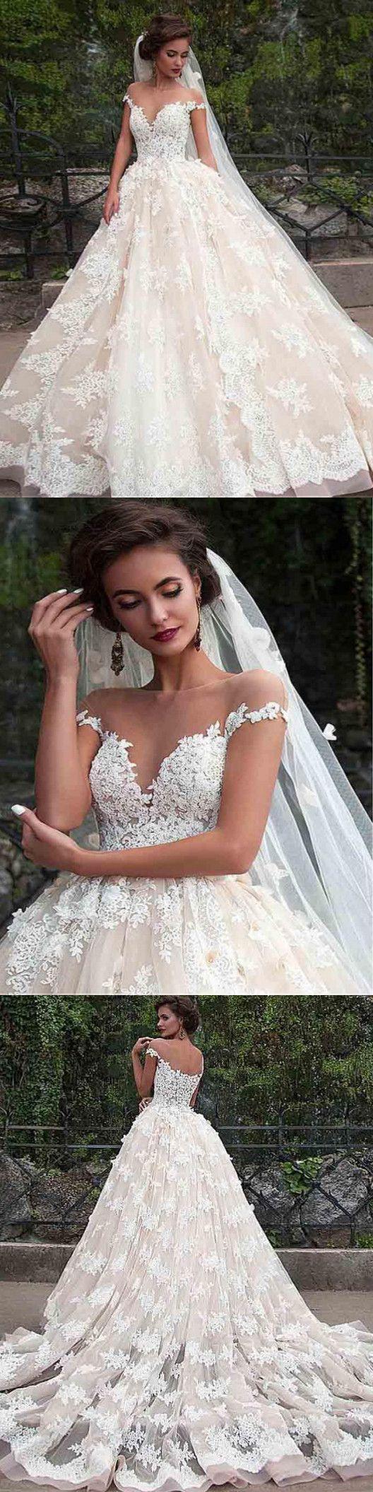 Brautkleider Spitze, Brautkleider Vintage, Brautkleider einfach, bescheidene Hoc…