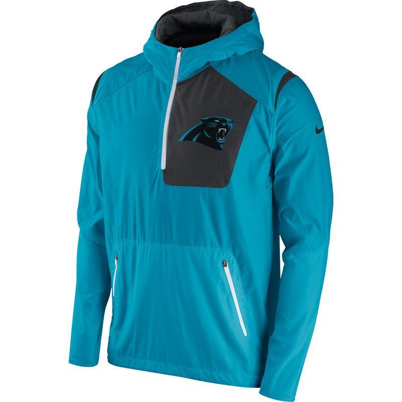 Carolina Panthers Nike Vapor Speed Fly Rush Half-Zip Jacket - Blue ... 7965e921f