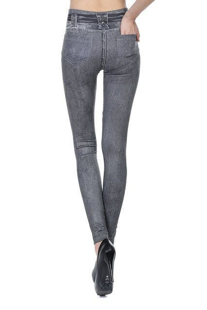 bb4f0c11f153a Hot Sale Women Leggings Jeans Leggins Black Jeggings Causal Plus Size  Jeggings Femal Blue Gray Pants