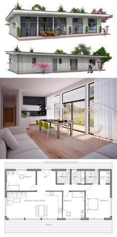 Grundriss Kleines Haus Mit Pultdach