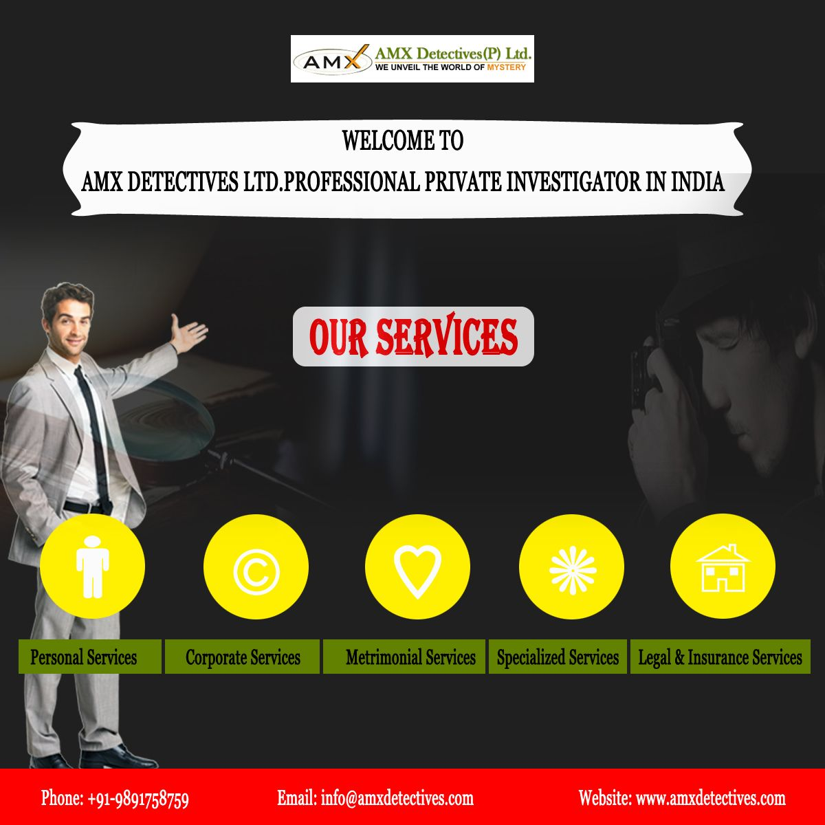 Amx Detectives Is The Best Detective Agency In Delhi It Has The