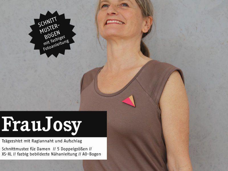 Schnittmuster Frau Josy Trägershirt Schnittreif | Schnittmuster ...