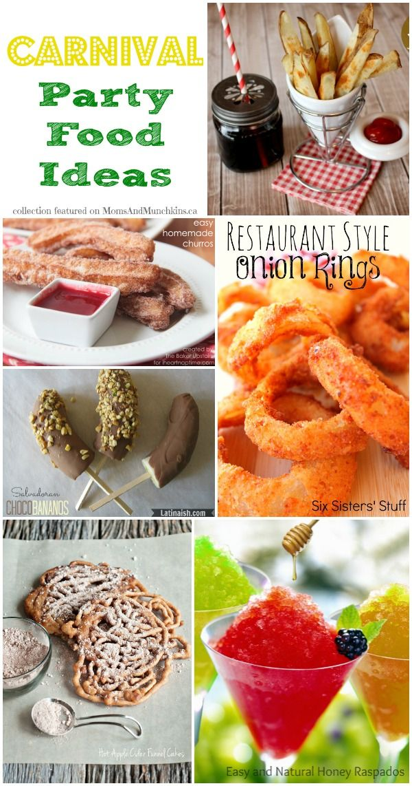 Carnival Party Food Ideas Collection Carnival Party Foods