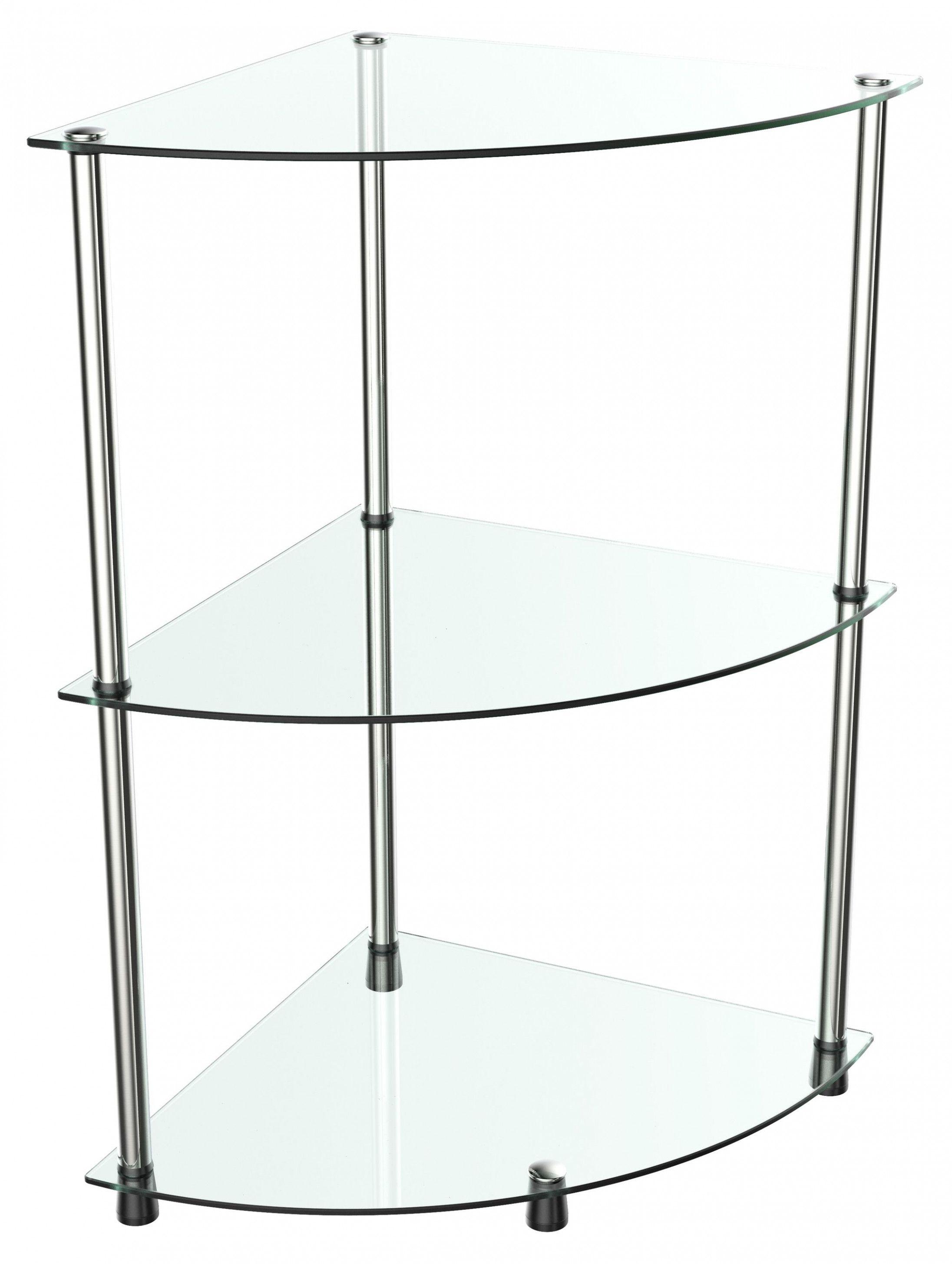 Eckregal Wm10 Mit Glas Ablagen Glasregal Flaches Badezimmer