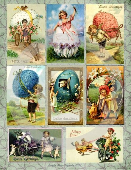 Vintage easter eggs basket boxes gift tags scrapbooking postcards vintage easter eggs basket boxes gift tags scrapbooking postcards digital art sheet download negle Choice Image