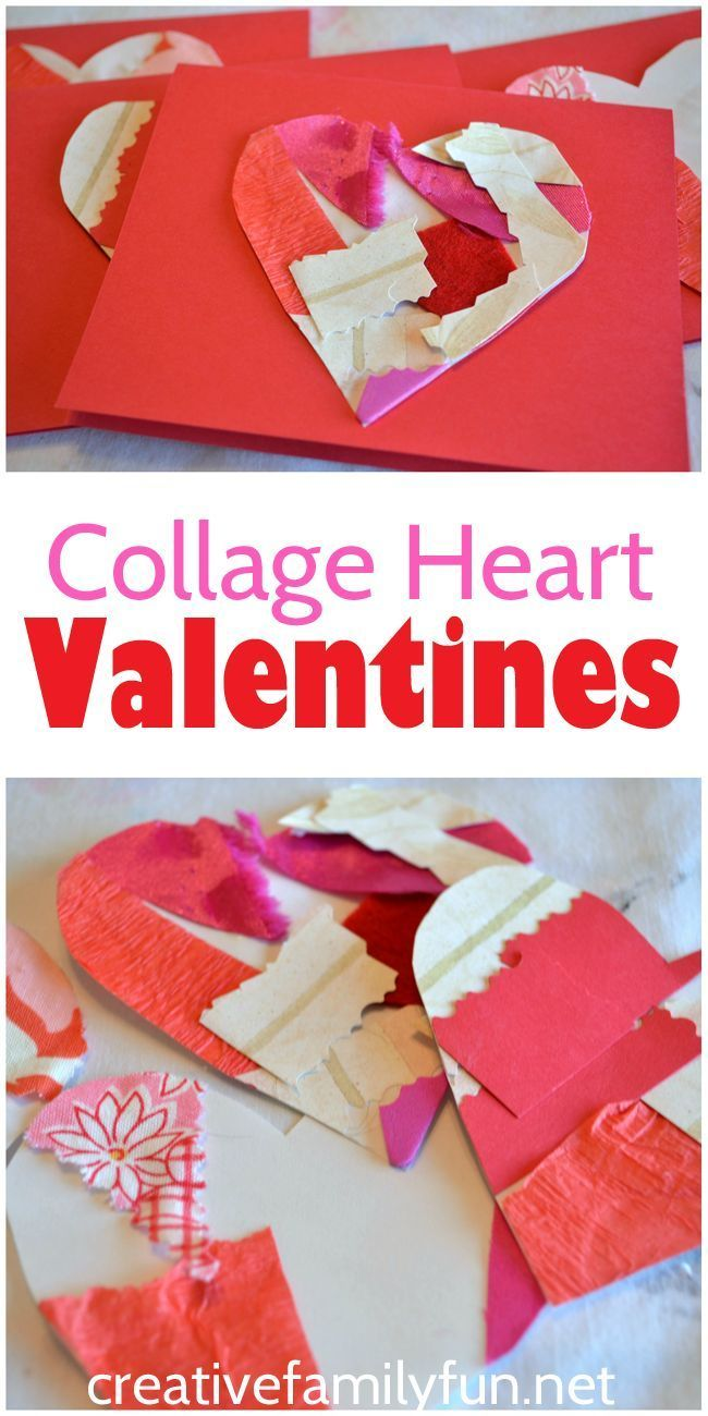 Collage heart valentines heart beautiful and valentines turn a simple collage into beautiful cards with this fun valentines day craft for kids jeuxipadfo Gallery