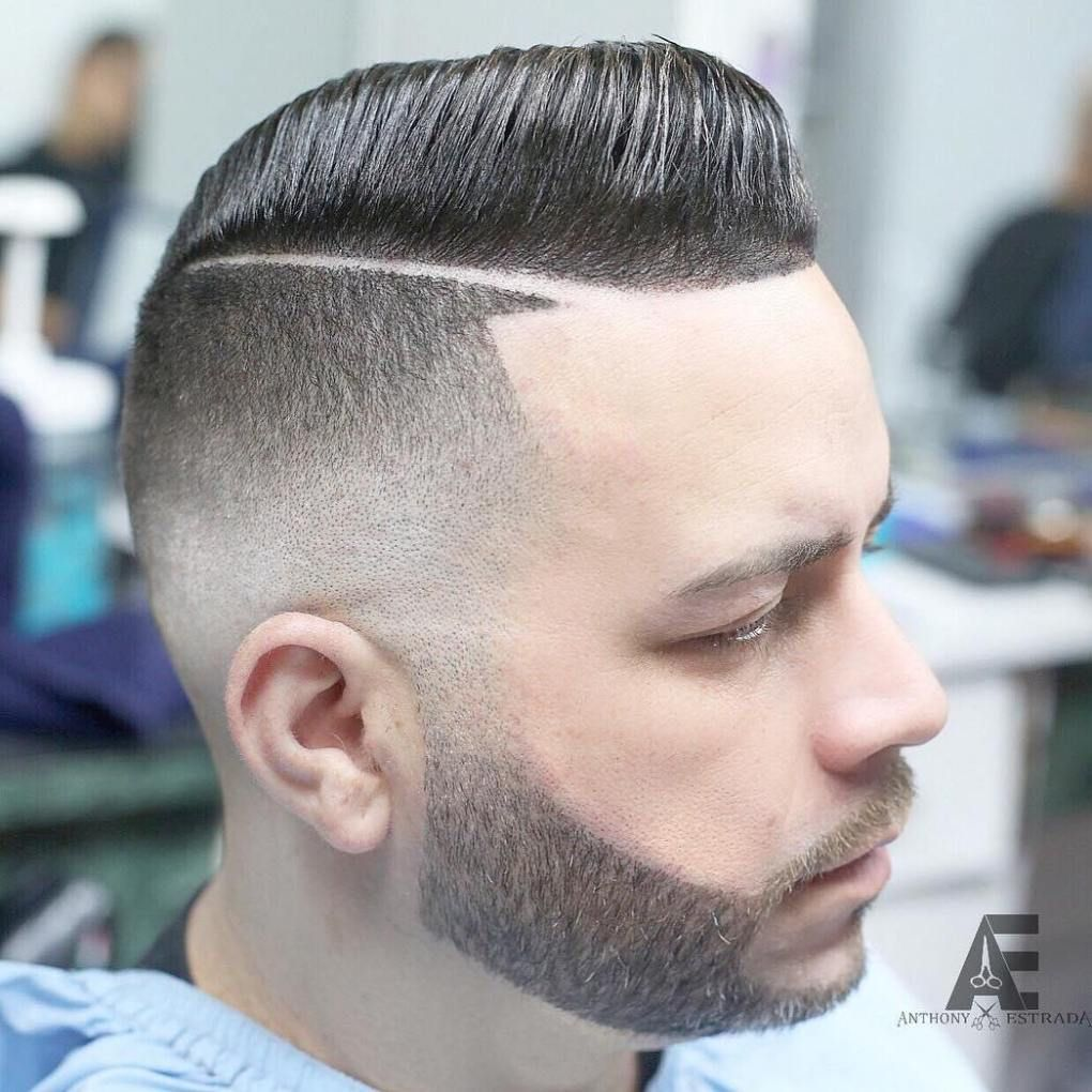 20 Types Of Fade Haircuts That Are Trendy Now Hard Part Hairstyle
