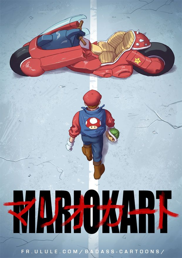 Tumblr: poochin:    Mario Kart BADASS by Tohad on DeviantArt