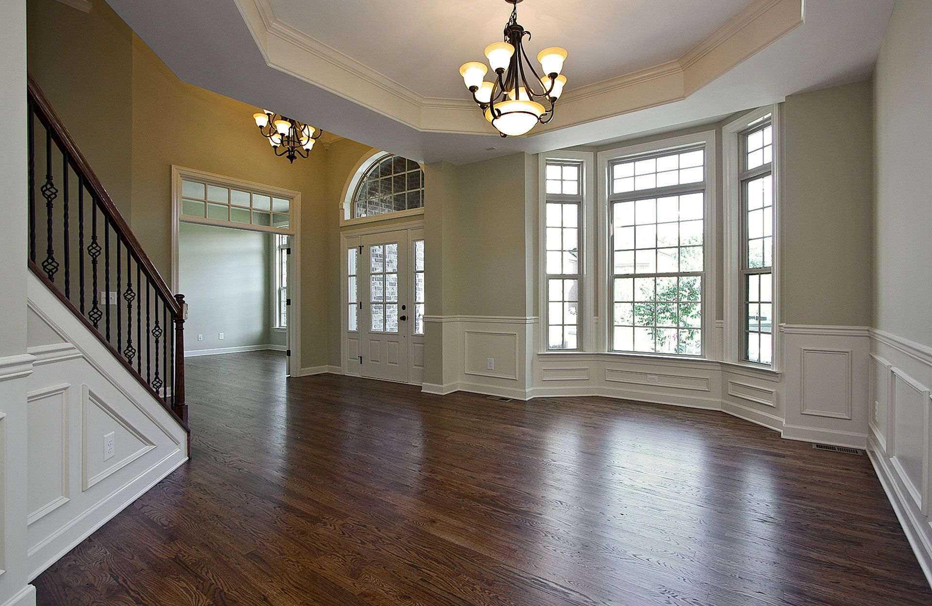 The Aberdeen Dining Room with decorative molding