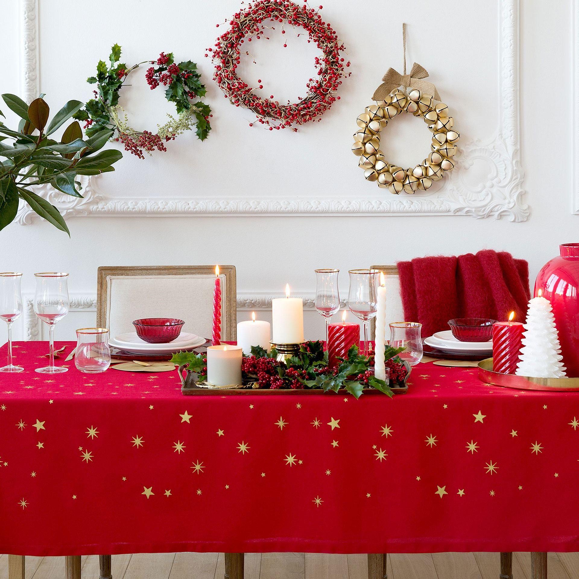 catalogo-zara-home-navidad-2016-decoracion-mesa-rojo-verde-estrellas ...