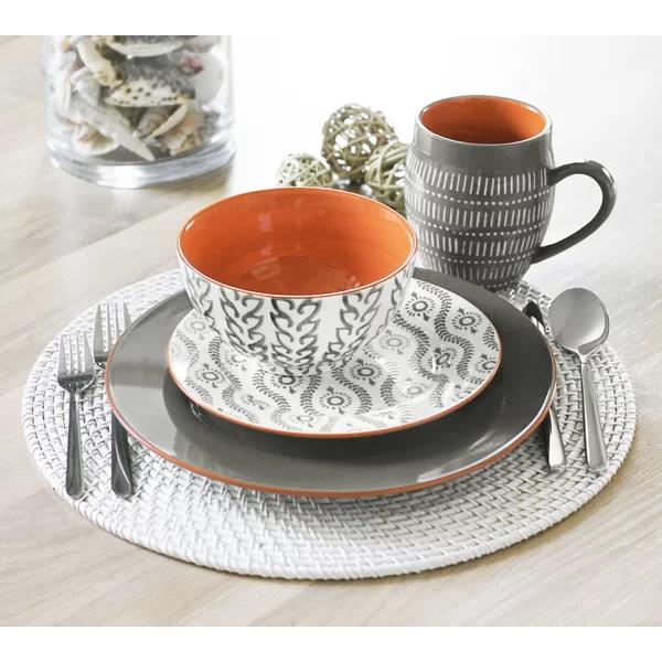 Pranav 16 Piece Stoneware Dinnerware Set, Service for 4 #casualdinnerware