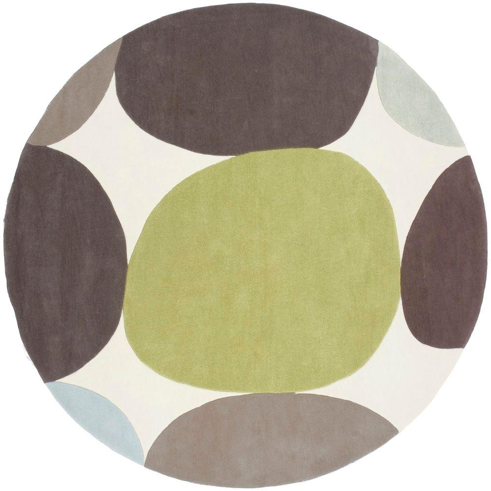 Artistic Weavers Meredith Ivory 8 Ft Round Area Rug Modern Area Rugs Area Rugs Handcrafted Rugs
