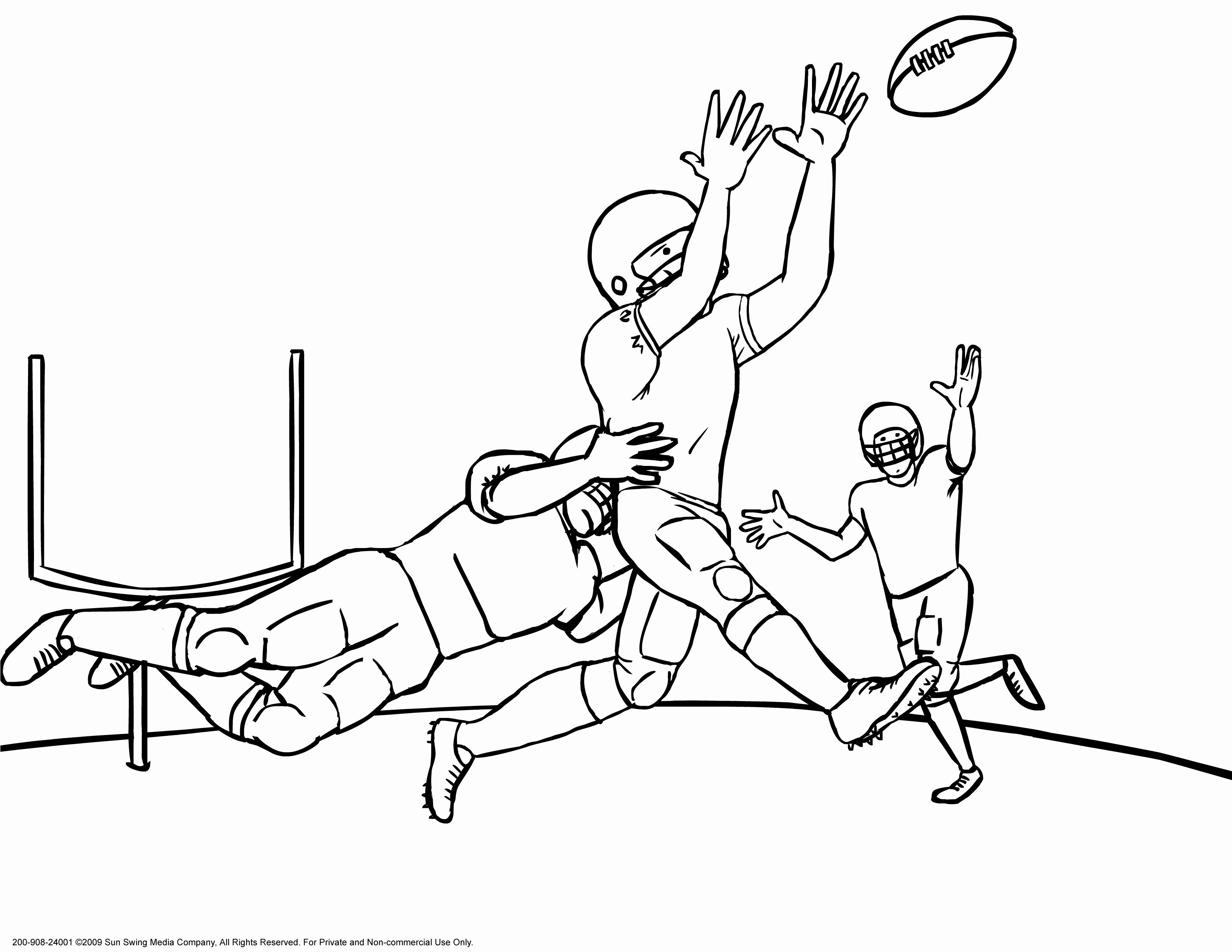 24 Football Field Coloring Page In
