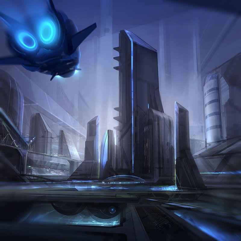 Ciudades Futuristas 1 Science Fiction Art Futuristic City Future City