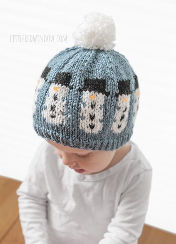 Fair Isle Winter Snowman Hat Knitting Pattern Snowman Hat Fair