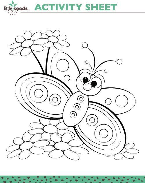 Little Seeds Activity Sheets Riscos Bordado Pinturas