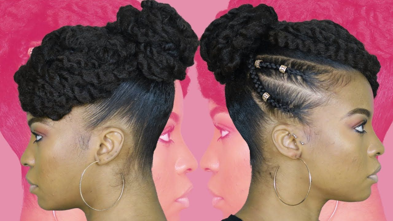 Tamara Mowry Inspired Twisted Updo Using Marley Hair Natural Hair Marley Hair Natural Hair Styles Braided Updo Protective Style