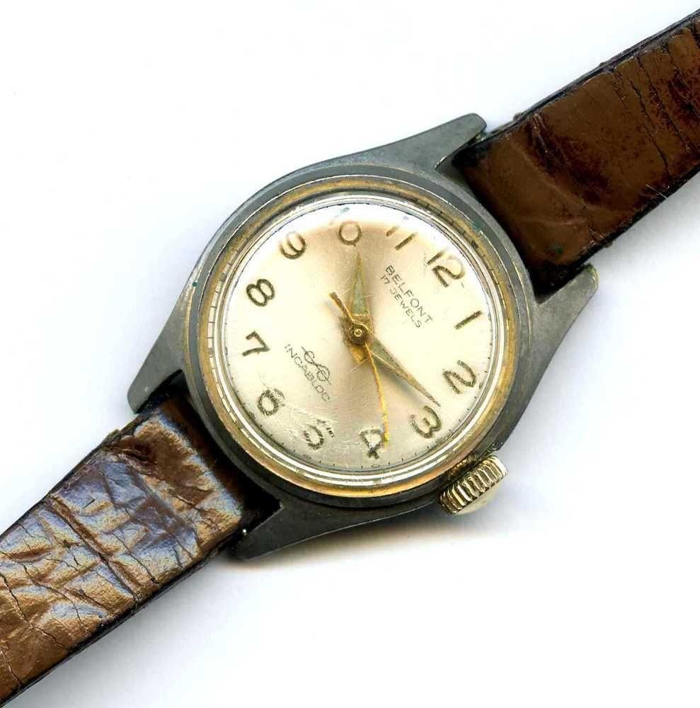 Vtg Belfont 17J Incabloc Swiss 1318 Windup Ladies Wrist Watch RUNS ...