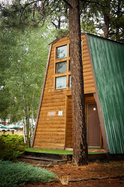 A-Frame Rustic Cabin Tiny House Luv Pinterest Cabanes, Cabane