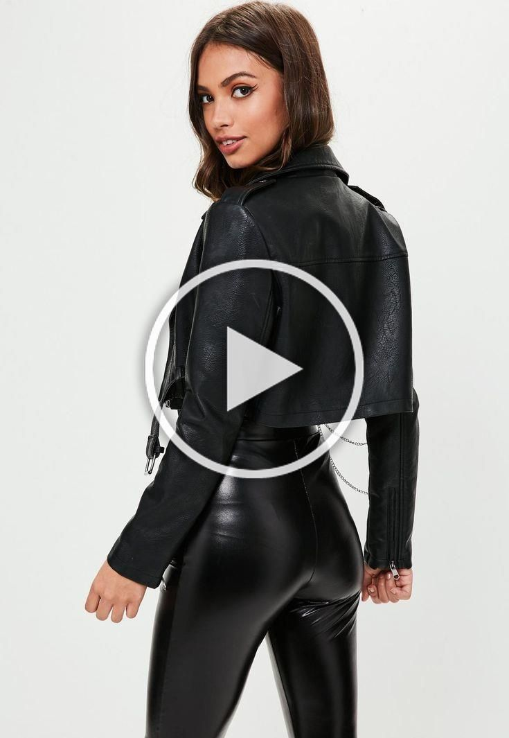Missguided   Black Super Cropped Biker Jacket #biker #black #cropped #jacket #missguided #super