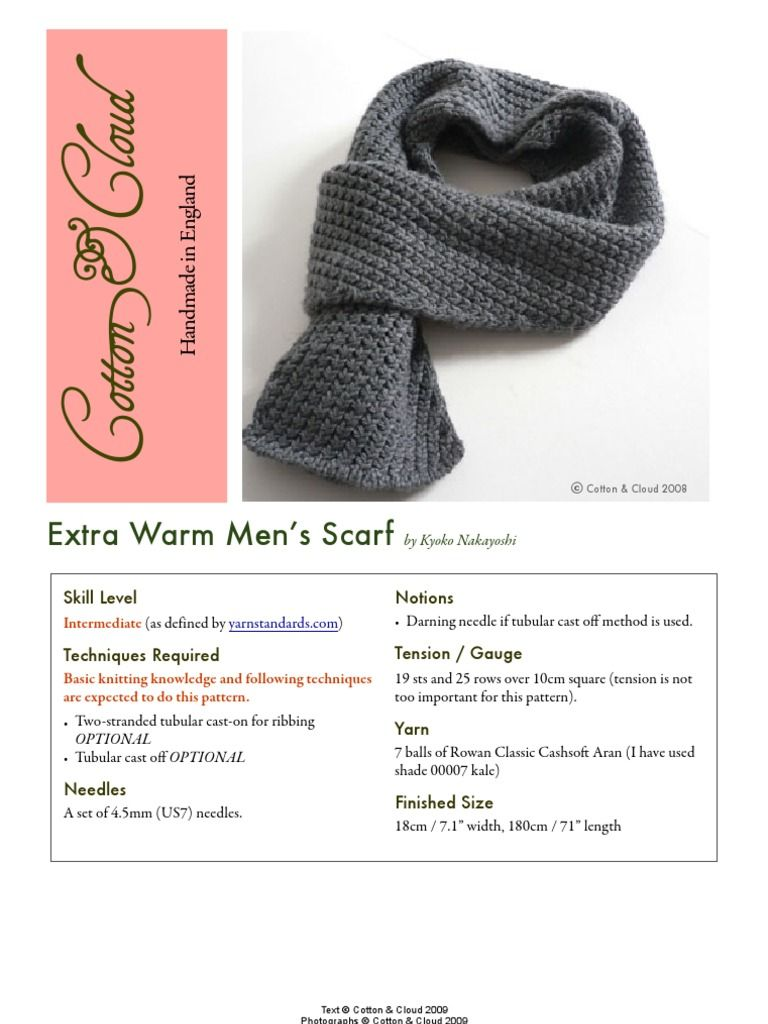 Free knitting pattern for a really warm men\'s (women can wear them ...