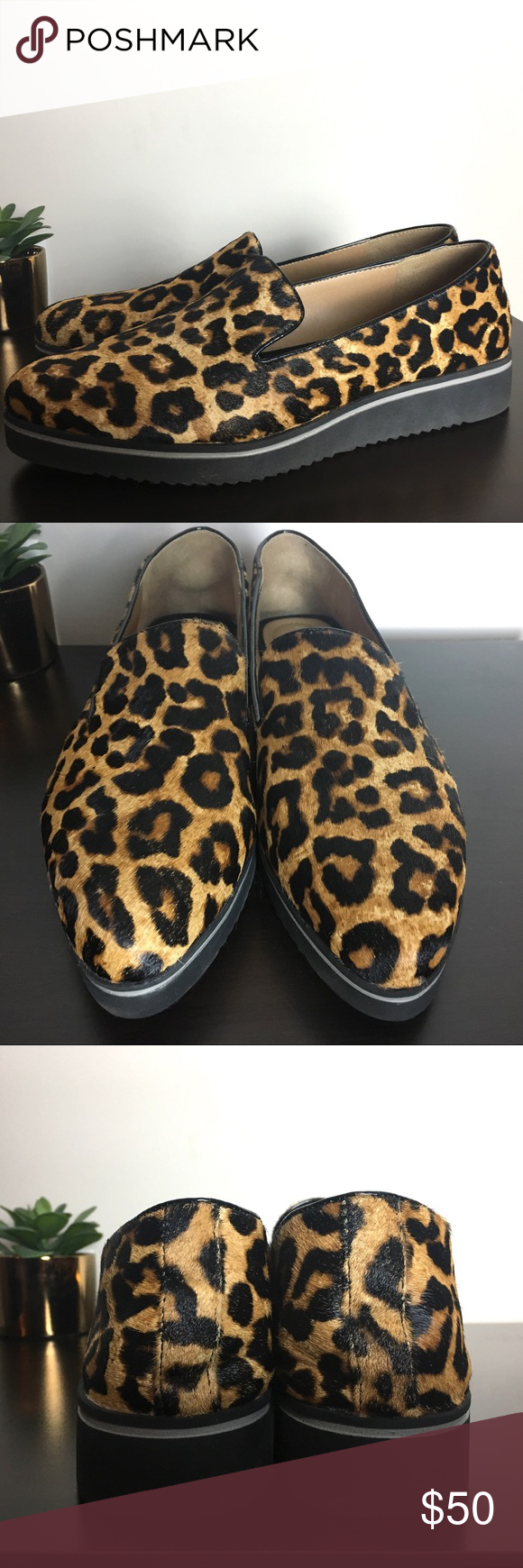 cd19fe0a3cb6 Spotted while shopping on Poshmark: Franco Sarto Fabrina Leopard Calf Hair  Loafers! #poshmark #fashion #shopping #style #Franco Sarto #Shoes