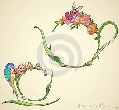 hummingbird art nouveau - Google Search