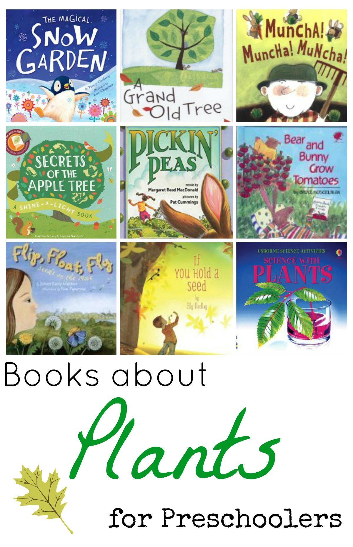 Books about Plants for Preschoolers | Plants, Books and Kindergarten