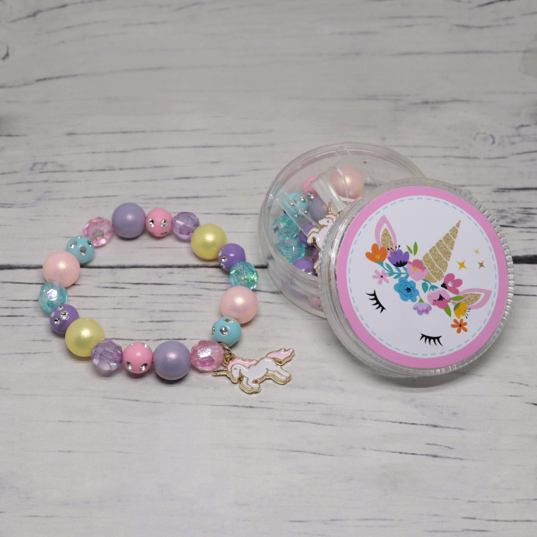 Diy unicorn bracelet unicorn party favors unicorn jewelry