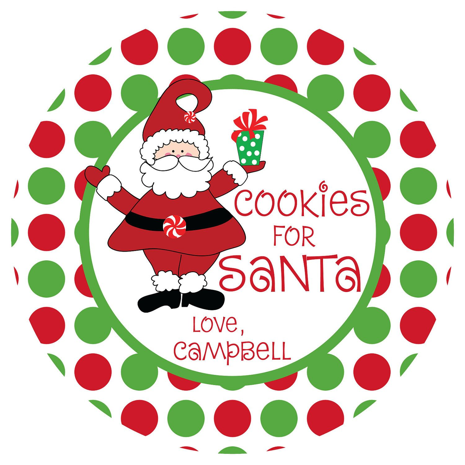 Cookies for Santa Plate - Personalized Melamine Plate - Personalized Christmas Plate. $20.00 via Etsy.  sc 1 st  Pinterest & Cookies for Santa Plate - Personalized Melamine Plate - Personalized ...