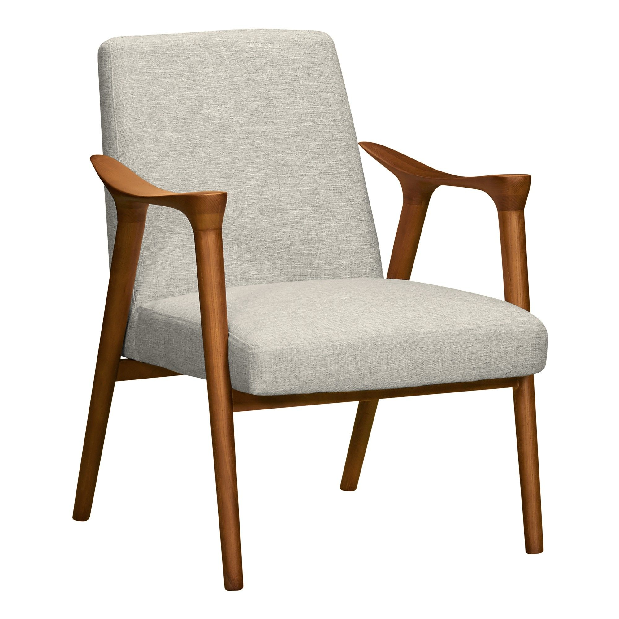 Strange Pelisium Mid Century Accent Chair Beige Modern Home Uwap Interior Chair Design Uwaporg