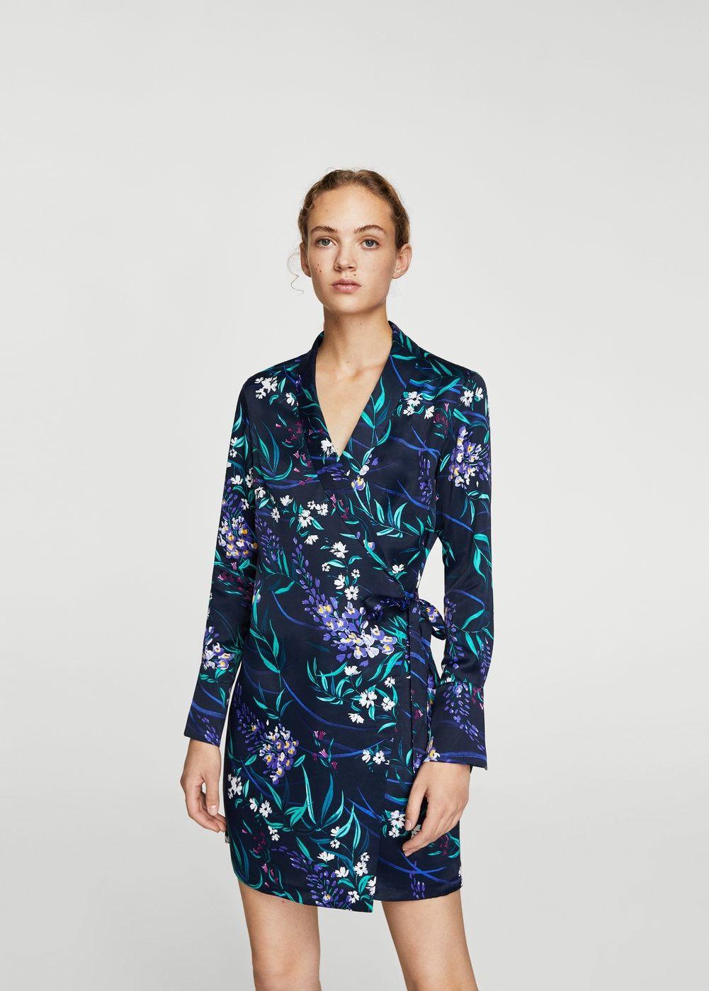 Vestido cruzado floral - Vestidos de Mujer  aacd3370c9cd
