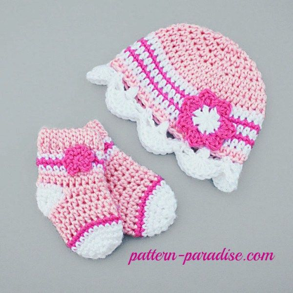 Crochet Pattern Jasmine Baby Hat And Socks Jasmine Paradise And