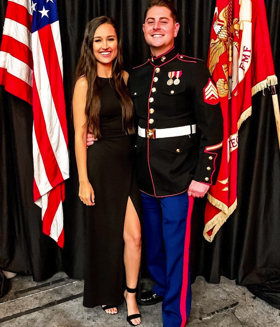 We had a great time at the Marine Corps ball this year