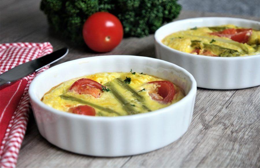 Idée Repas Pour Le Soir Mini clafoutis aux asperges vertes | Recette repas du soir