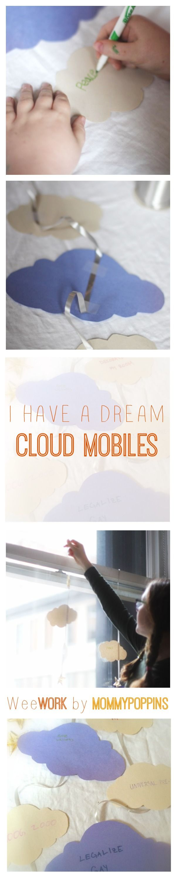 WeeWork Kids Craft: Martin Luther King Jr. Dream Mobiles | Mommy Poppins - Things to Do with Kids