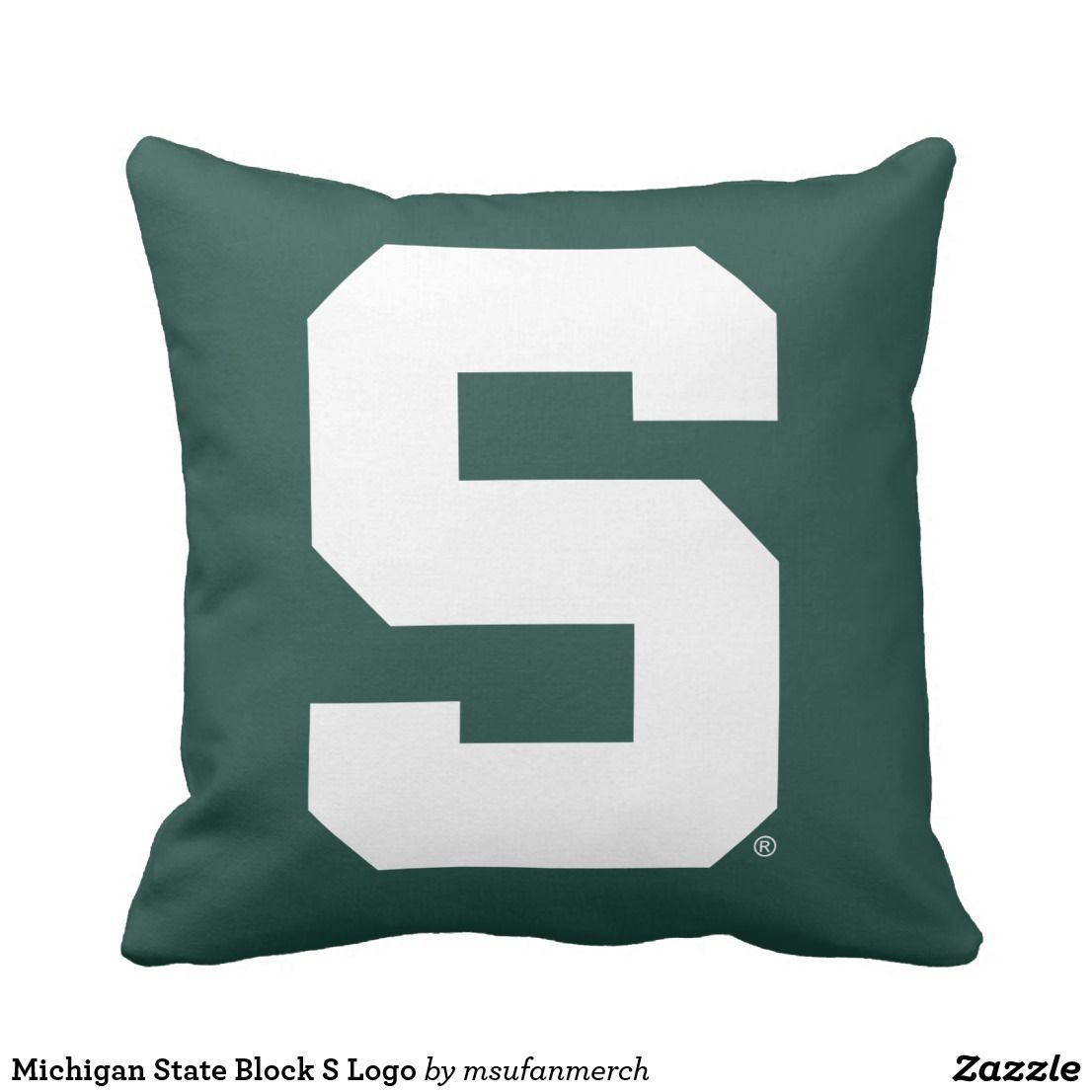 Prime Michigan State Block S Logo Throw Pillow Zazzle Com Andrewgaddart Wooden Chair Designs For Living Room Andrewgaddartcom