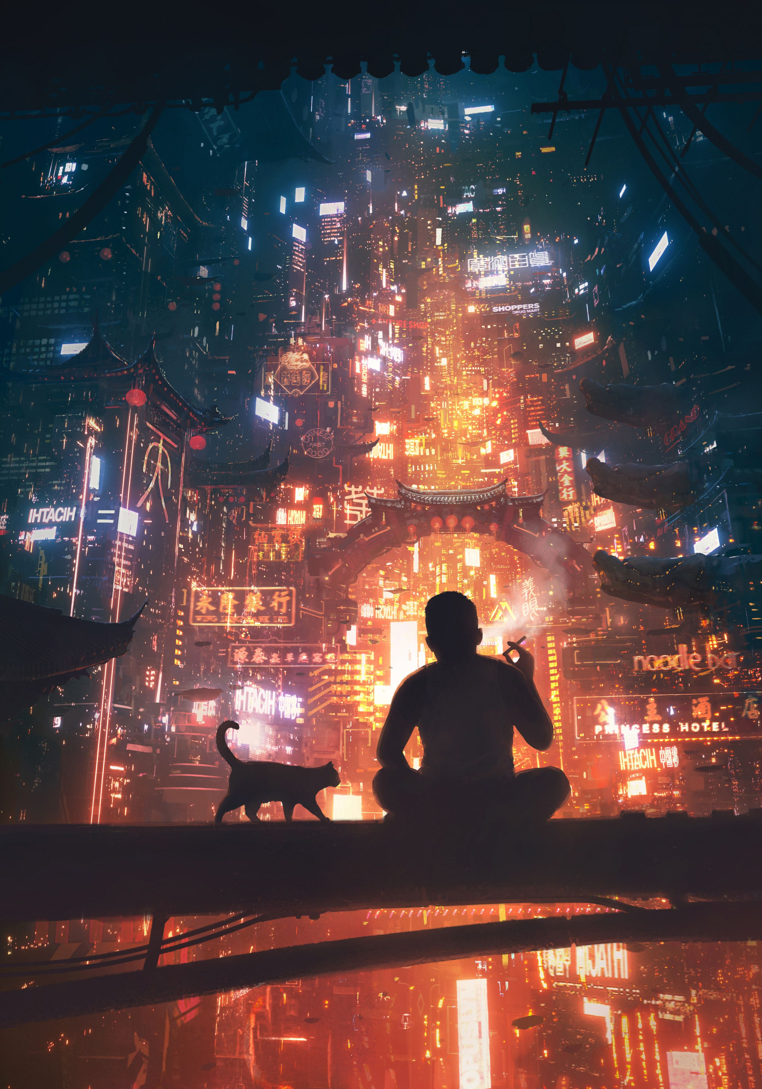 Pin by Thanh TanTan on meow in 2019 | Cyberpunk art, Art