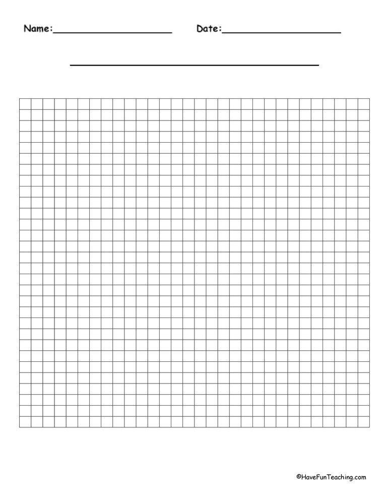 Blank Math Grids Worksheet Printable Alphabet Worksheets Alphabet Worksheets Math Grid