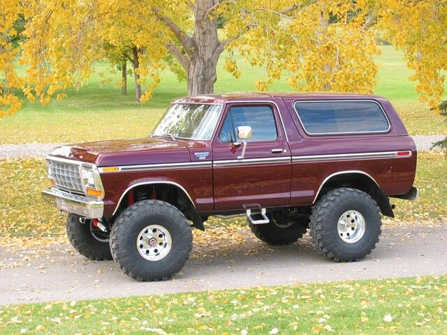 1979 Ford Bronco With 5 Inches Of Lift Black Cherry Color And