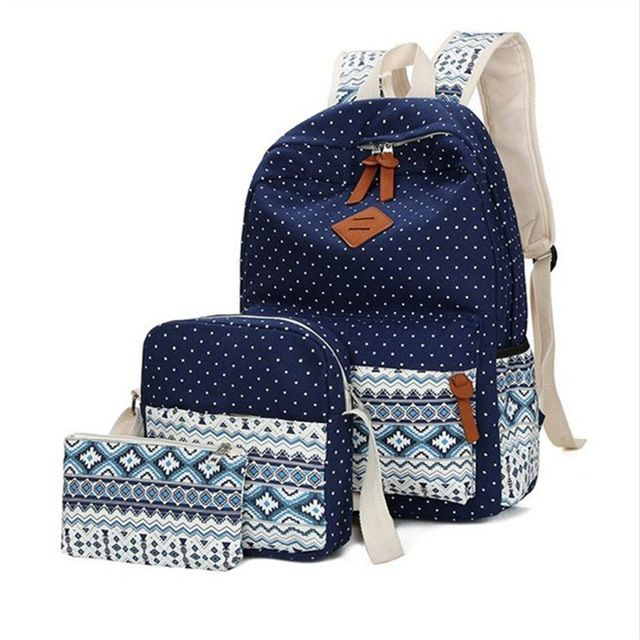 f8cab56fb6 2018 fashion Dot printing women backpacks High quality canvas school  backpack kids school bags for girls mochila feminina Review